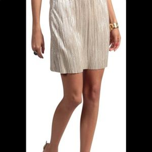 🆕👍 BCBGENERATION Gold pleated MINI skirt